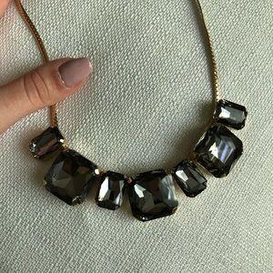 Beautiful gray statement necklace
